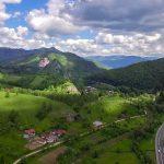 Panorama spre cătunul Firma